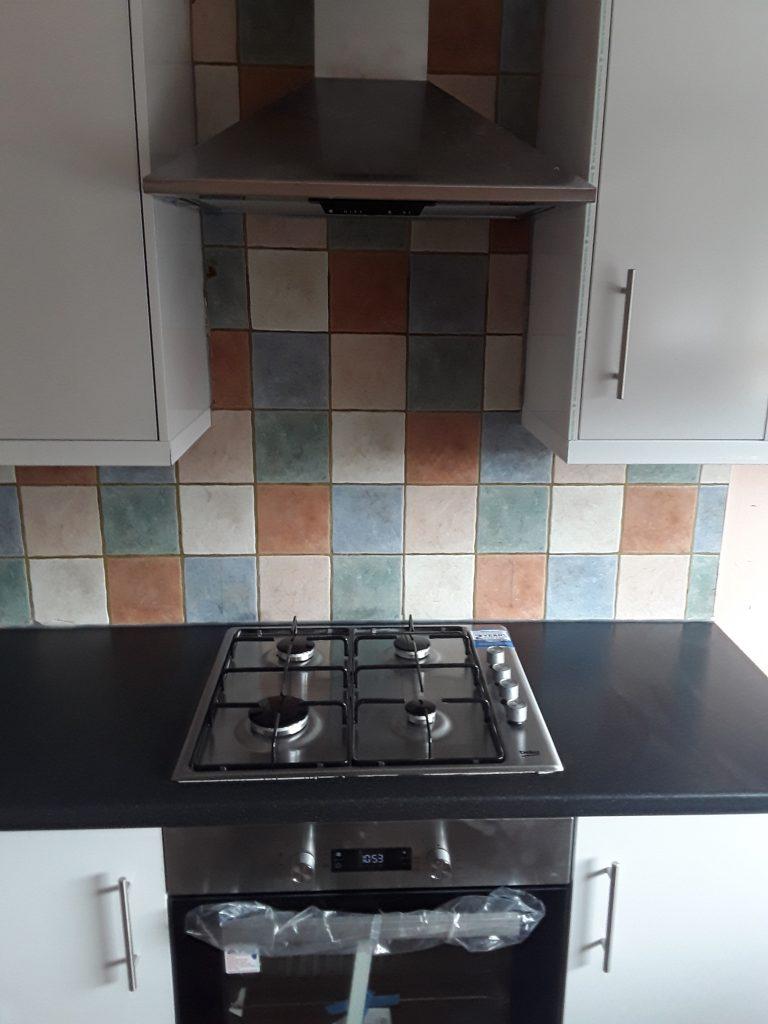 Kitchen Stove at Lingey Close Sacriston