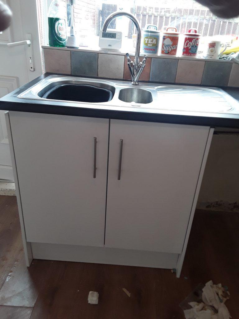 Handwash Sink at Lingey Close Sacriston