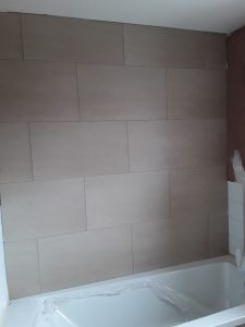New Bathroom Wall in Sacriston DH7 6XQ